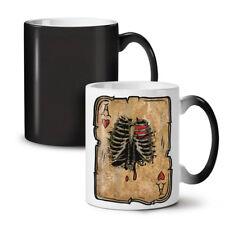 Poker Casino Skeleton NEW Colour Changing Tea Coffee Mug 11 oz   Wellcoda