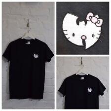 Realtà Wu x Hello Kitty Wu Tang Clan cartone animato giapponese Nero Tee T-shirt