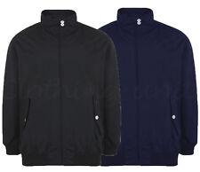 Mens Waterproof Smart Classic Harrington Jacket Coat Black Navy Big Size 2-8XL