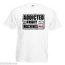 Addicted Fruit Machines Mens T Shirt 12 Colours  Size S - 3XL