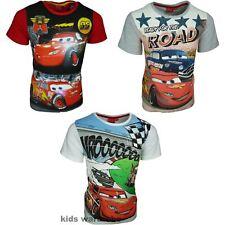Boys Disney Cars Short Sleeve T-shirt New Design 2017 Size 3-8 Years