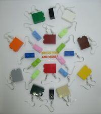 Lego - Earrings - Boucles d'Oreilles - Orecchini - 1x2 3004 Choose your color !
