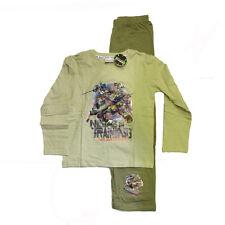 TORTUGAS NINJA MUTANTE ADOLESCENTES pijama largo de algodón beige e verde