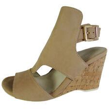 Kenneth Cole New York Womens Issac Nubuck Wedge Sandal Shoes