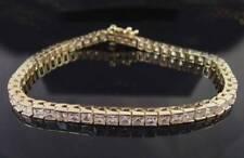 WOMENS 18KT YELLOW GOLD 12CT PRINCESS CUT SIMULATED DIAMOND BRACELET 47101PB