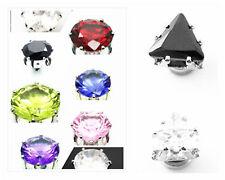 Classico magnete calamita diamante a bottone stile orecchini cristallo