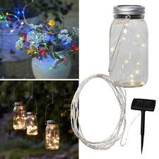 LED Solar Lichterkette Lichtschlauch Einmachglas Solar-Leuchte für Außen Garten