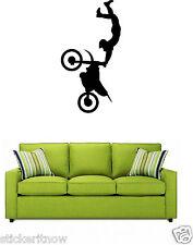 Motocross Motorbike Stunt Rider motorcycle Wall Art Sticker Decal  Motor Bike