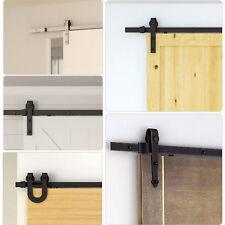 Modern Sliding Wood Barn Door Hardware Kit Track Set