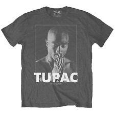 Tupac Praying OFFICIAL Charcoal T-Shirt 2pac Shakur All Eyez On Me Eyes