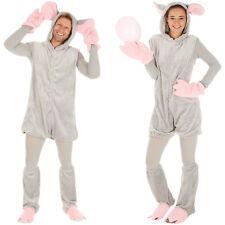 Maus Mäuse Kostüm Frauen Männer Karneval Fasching Halloween grau Spitzmaus