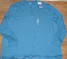 Croft & Barrow Easy Care Knit Long Sleeve Tee Crew Neck Shirt Big & Tall Teal Gr