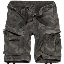 Brandit Vintage Clásico Combate Hombres Ejército Pantalones Cortos Oscuro Camo