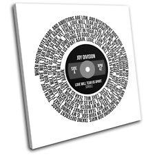 Joy Divison Love Will Tear us Apart Record Song Lyrics Vinyl Canvas Art Print