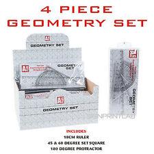 Géométrie Ensemble Multi Pack - 4PCS-Règle-Rapporteur-carrés de jeu-Parti Faveurs-cadeaux
