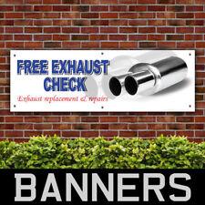 Free Exhaust Check Car PVC Banner Garage Printing Advertising Signs (BANPN00235)