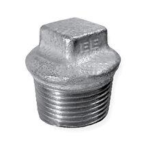 Beaded Hollow Plug - Malleable Galvanised Iron