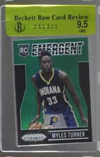 2015 Panini Prizm Emergent Green #14 Myles Turner Indiana Pacers Basketball Card