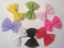 LOT 5 ou 8  Appliques NOEUDS Papillon en ruban TULLE 35mm - couture scrapbooking
