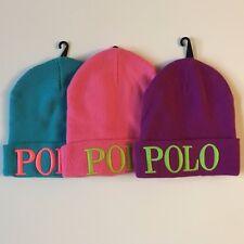 NWT Polo Ralph Lauren women winter beanie POLO Hat Blue Pink Purple New