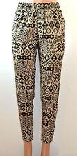 Allison Brittney All Over Tribal Inspired Print Peg Leg Harem Pants