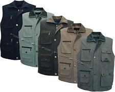 Mens 10 Pocket Lined Gilet Bodywarmer Body Coat Country Hunting Shooting Fishing