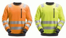 Snickers 8037 AllroundWork, Hi-Vis Sweatshirt CL2/CL3