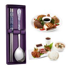 Tableware Korean Custom Stainless Steel Cutlery Set Spoon Chopsticks Dinnerware