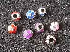 5/20 Blumen Muster Beads Großloch Perlen Paracord Armband Großlochperlen B55-B58