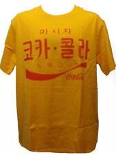 New Coca Cola Coke Mens Size M Medium Korean Logos Yellow Shirt