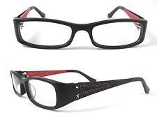 Eyeglass Frames Glasses Half Rim Womens Eyewear Metal Red Black Blue