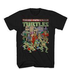 Teenage Mutant Ninja Turtles Whole Crew Here Licensed Adult T Shirt