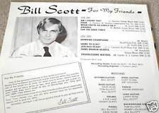 BILL SCOTT For My Memories LP PRIVATE MN FOLK SEALED