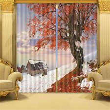 Beautiful Winter Snow 3D Curtain Blockout Photo Printing Curtains Drape Fabric