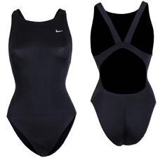 Nike Damen Lycra Badeanzug Einteiler Bademode Schwimmanzug Swimsuit schwarz