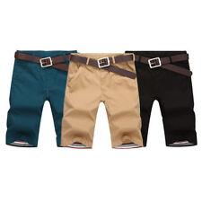 Fashion Men's Beach Trousers Summer Short Pants Slim Fit Casual Cotton Shorts