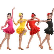 Girls Latin Ballet Jazz dance dress Childrens Tutu Lace Dress dancewear Costume