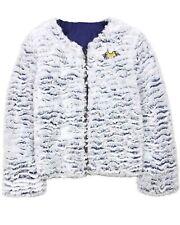 3POMMES Girl's Textured Faux Fur Coat, Sizes 4-12