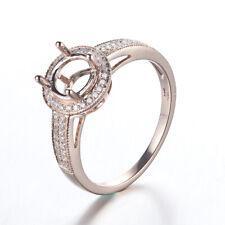 6.5mm Round 14K Gold Vintage Semi Mount Engagement Wedding Diamonds Women Ring