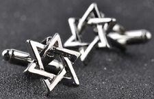 Silver L'Étoile De David Boutons de manchette Juif JUDAISME Menorah Chemise Habillée Mariage