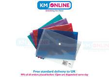 A6 Stud Wallets Plastic Document Wallets Press Stud Folder Filing Storage 302108