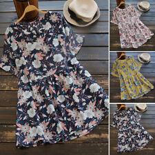 ZANZEA 8-24 Women Casual Cotton Top Tee T Shirt Loose Plus Size Floral Blouse