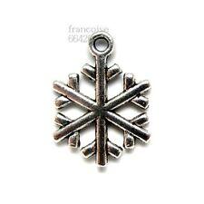 Breloques _ FLOCON DE NEIGE 20X15mm _ Perles charms création bijoux bracel _B516