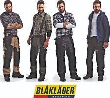 BLAKLADER X1500 WORK TROUSERS MULTIPOCKETS COTTON CANVAS WORKWEAR 15001320