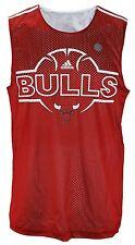 Adidas NBA Basketball Men's Chicago Bulls Hoops Sleeveless Jersey Tank, Red