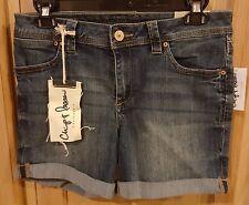 Chip & Pepper CA Dark Wash Malibu Roll Cuff Stretch Denim Jeans Shorts - $44