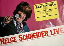 Poster HELGE SCHNEIDER live Berlin 1990 rar Original A1 vintage Jazz Herrentorte