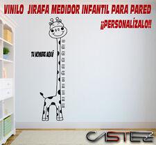 vinilo decorativo pared casa infantil JIRAFA MEDIDOR METRO ALTURA NIÑO  vinyl