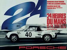 Porsche  1970 24 Heures Du Mans Vintage Poster Print on Paper/Canvas
