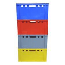 E3 Eurofleischerkiste Metzgerkiste Vorratsbox Stapelkiste rot blau grau gelb NEU